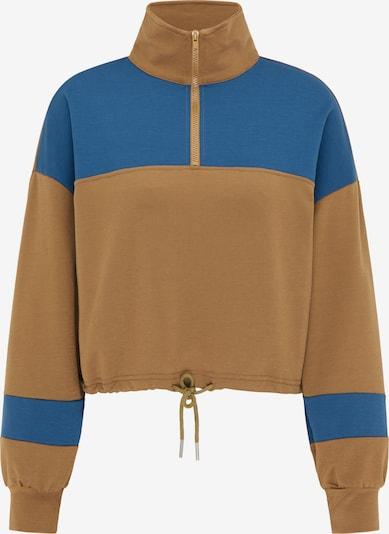 myMo ATHLSR Bluzka sportowa w kolorze gołąbkowo niebieski / brązowym, Podgląd produktu