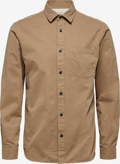 SELECTED HOMME Hemd 'Austin' in dunkelbeige, Produktansicht