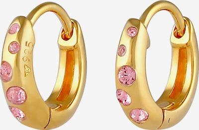 ELLI Ohrringe Creole in gold / pastellpink, Produktansicht