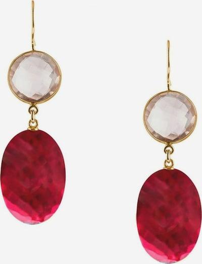 Gemshine Ohrringe in gold / rosa / rubinrot, Produktansicht