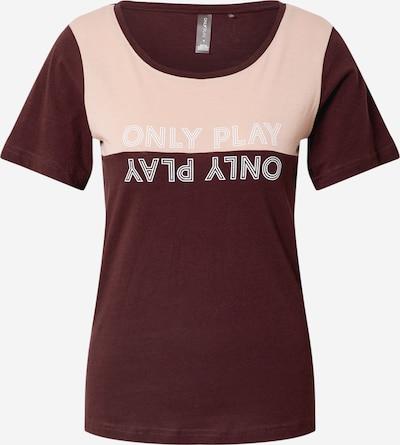 ONLY PLAY Funkcionalna majica | rjava / roza barva, Prikaz izdelka