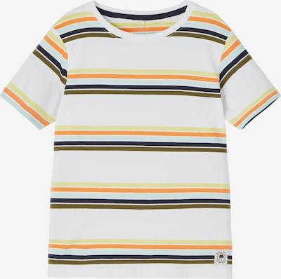 NAME IT Shirt 'JACH' in de kleur Lichtblauw / Pasteelgeel / Sinaasappel / Zwart / Wit, Productweergave