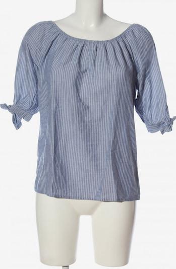 re.draft Carmen-Bluse in M in blau / weiß, Produktansicht