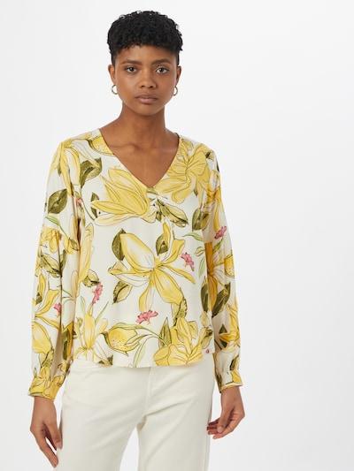 COMMA Bluse in gelb / grün / weiß, Modelansicht