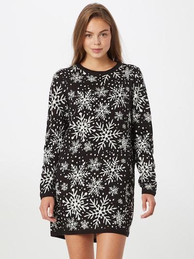 JDY Kleid 'MIKA' in schwarz / weiß, Modelansicht