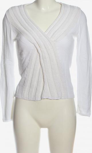 Carlo Colucci V-Ausschnitt-Pullover in S in weiß, Produktansicht