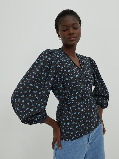 EDITED Bluse 'Papina' in blau / schwarz, Modelansicht