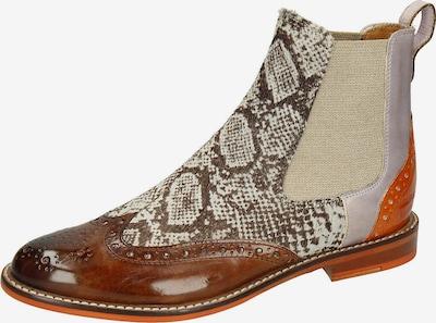 MELVIN & HAMILTON Chelsea Boots 'Selina' in beige / braun / rot, Produktansicht