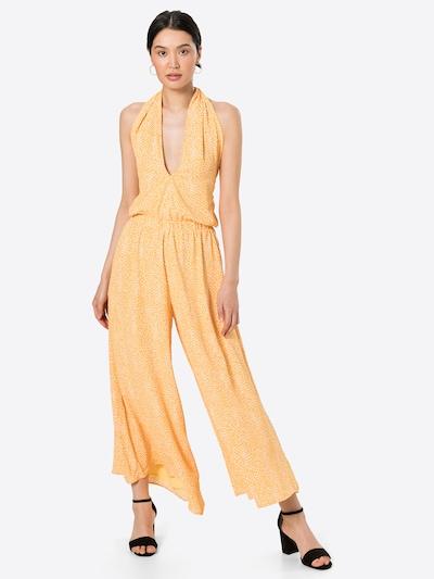 Paisie Jumpsuit in gelb / weiß, Modelansicht