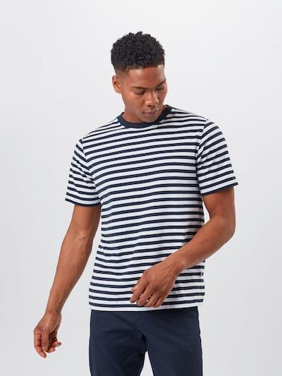 WOOD WOOD Тениска 'Sami' в морскосиньо / бяло, Преглед на модела