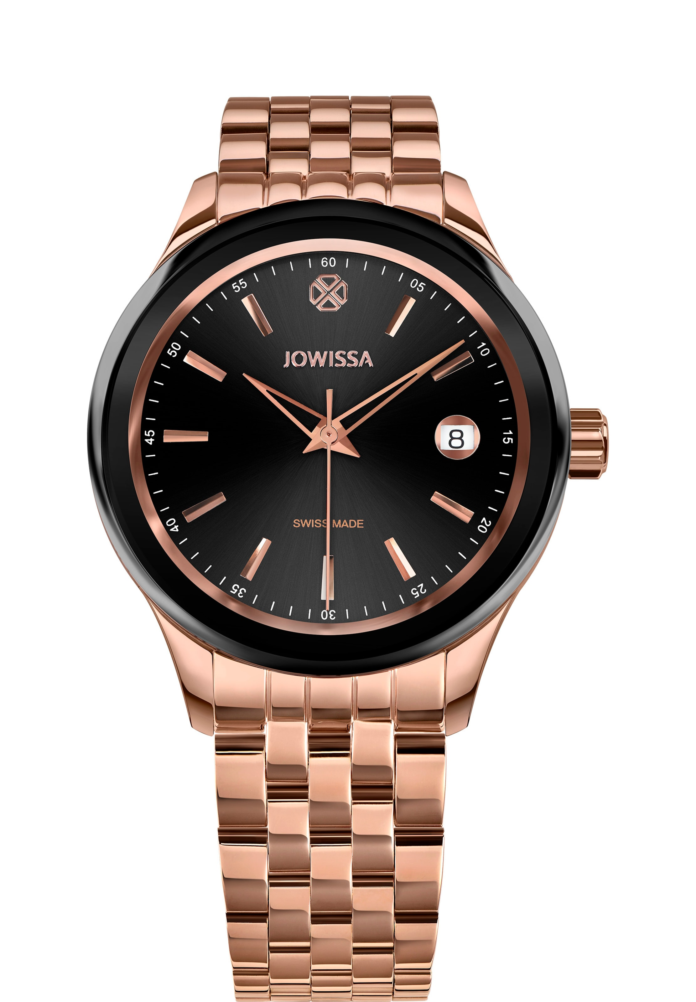 JOWISSA Quarzuhr 'Tiro Swiss Made Watch' in rosegold / rosé / schwarz