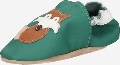 BECK Huisschoenen 'Fuchs' in de kleur Beige / Karamel / Groen / Wit, Productweergave