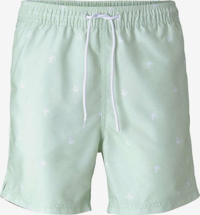 TOM TAILOR DENIM Zwemshorts in de kleur Jade groen / Wit, Productweergave