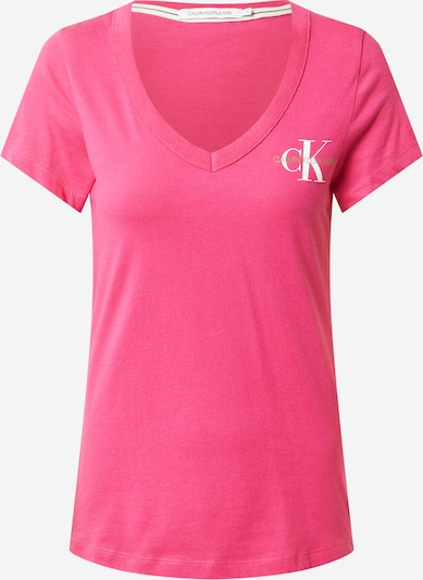 Calvin Klein Jeans Tričko - pink / bílá, Produkt