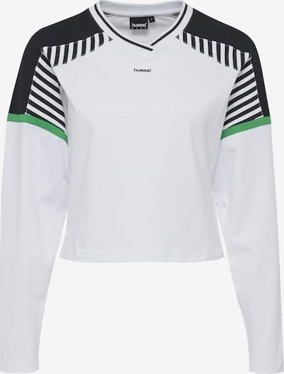 hummel hive Shirt 'Cate' in hellgrün / schwarz / weiß, Produktansicht