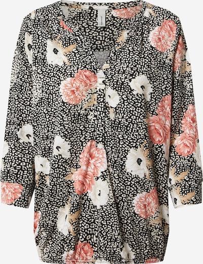 Soyaconcept Shirt 'FELICITY' in de kleur Beige / Donkerbeige / Rosa / Zwart / Wit, Productweergave