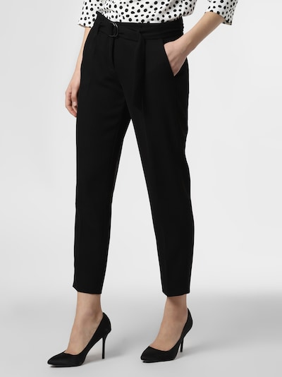 Cambio Pleated Pants 'Kaia' in Black, View model