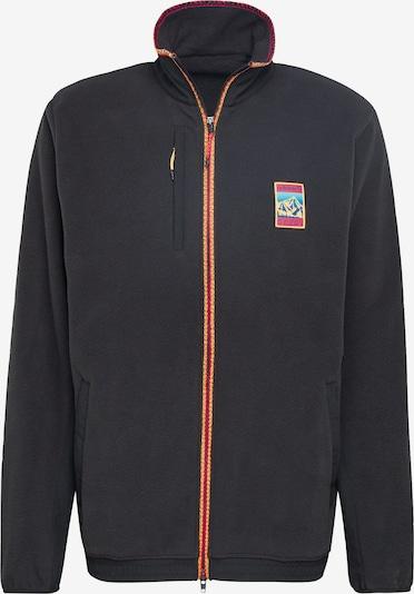 ADIDAS ORIGINALS Fleece jas 'Adiplore Polar' in de kleur Zwart: Vooraanzicht