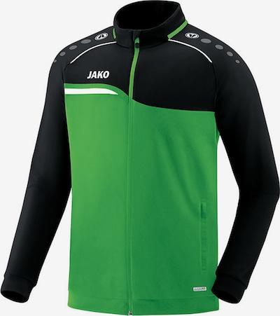 JAKO Jacke in grün / schwarz: Frontalansicht