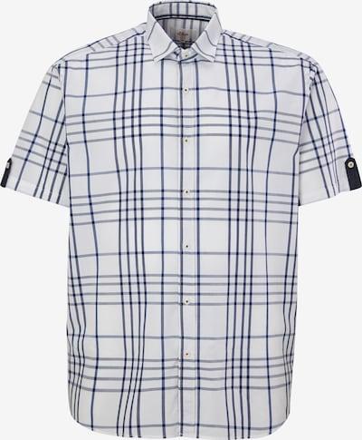 s.Oliver Regular: Hemd mit Karomuster in weiß, Produktansicht