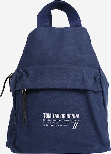 TOM TAILOR DENIM Rucksack 'Lia' in navy / weiß, Produktansicht