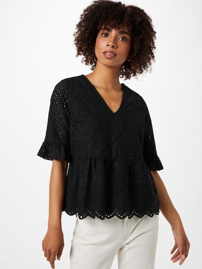 Y.A.S Blusa 'JOSEFINE' en negro, Vista del modelo
