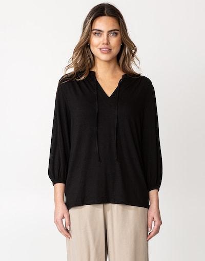 Indiska Bluse 'ZELDA' in schwarz, Modelansicht