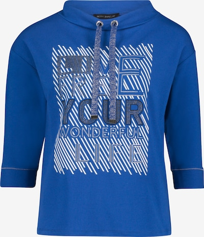 Betty Barclay Sweatshirt mit Placement in blau / weiß, Produktansicht