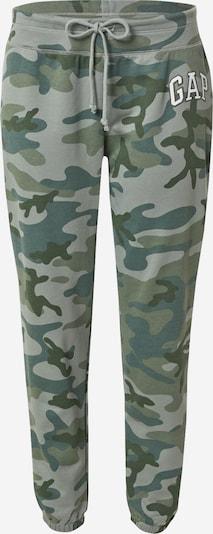 GAP Hose in khaki / smaragd / pastellgrün / weiß, Produktansicht