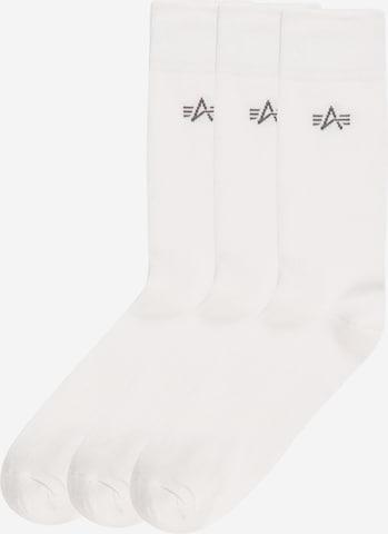 Calzino di ALPHA INDUSTRIES in bianco