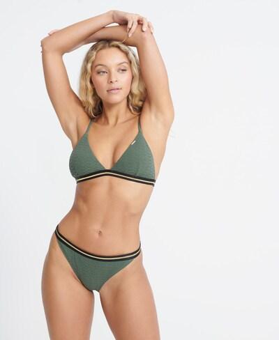 Superdry Bikinitop in gold / oliv / schwarz, Modelansicht