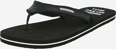Flip-flops TOM TAILOR pe negru / alb, Vizualizare produs