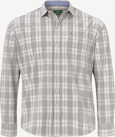 Charles Colby Hemd 'Duke Kinsey' in grau / weiß, Produktansicht