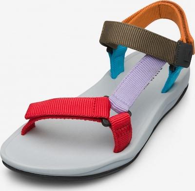 CAMPER Sandales de randonnée en bleu ciel / kaki / violet clair / orange / rouge, Vue avec produit