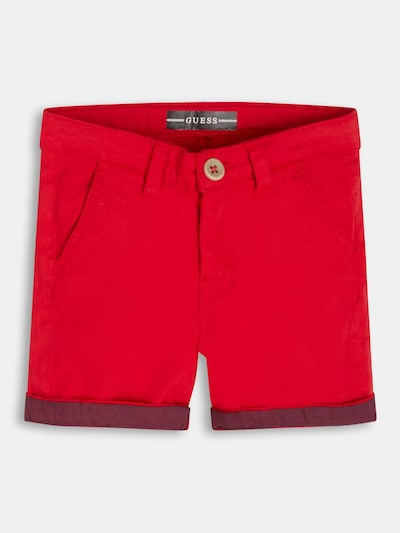 GUESS KIDS Shorts in rot, Produktansicht