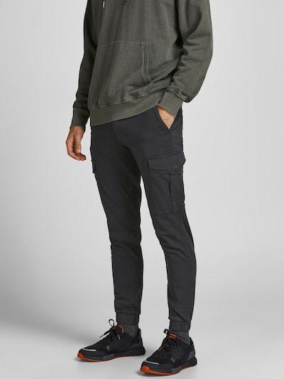 JACK & JONES Cargohose 'Marco' in schwarz, Modelansicht
