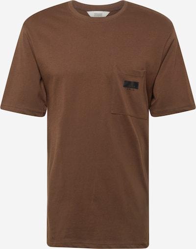 !Solid T-shirt i mörkbrun, Produktvy