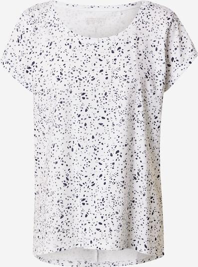 ESPRIT T-Shirt in dunkelblau / weiß, Produktansicht