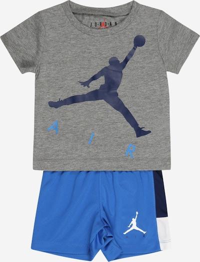 Jordan Treniņtērps, krāsa - tumši zils / karaliski zils / raibi pelēks / balts, Preces skats