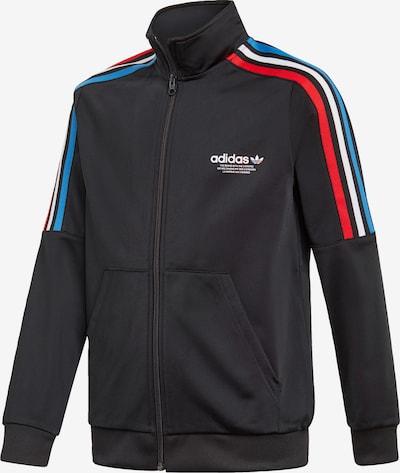 ADIDAS ORIGINALS Sweatjacke in himmelblau / hellrot / schwarz / weiß, Produktansicht