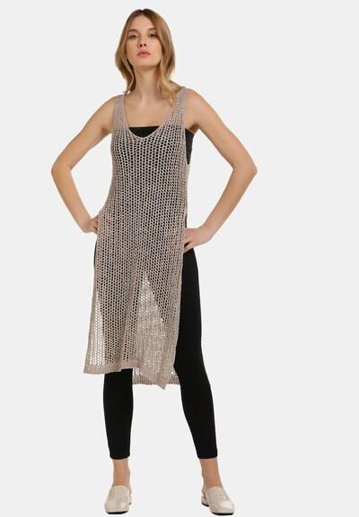 Usha Kleid in taupe, Modelansicht