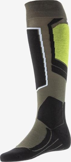 FALKE Socken 'SK 4' in khaki / hellgrün / schwarz / weiß, Produktansicht
