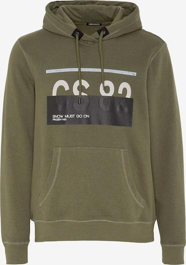 Sportinio tipo megztinis 'LOREDO' iš CHIEMSEE , spalva - alyvuogių spalva / juoda / balta, Prekių apžvalga