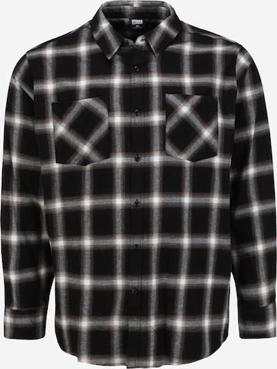 Urban Classics Big & Tall Koszula w kolorze czarny / białym, Podgląd produktu