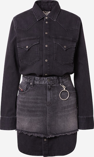 DIESEL Kleid 'DESY' in grey denim / black denim, Produktansicht