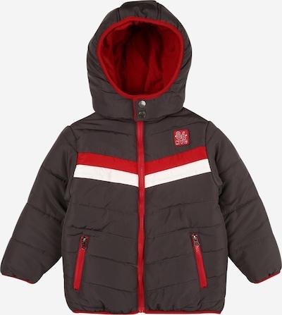 BLUE SEVEN Jacke in dunkelgrau / rot / weiß, Produktansicht