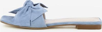 Gianluca Pisati Damen Pantolette Emy in hellblau, Produktansicht
