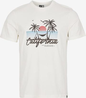 T-Shirt 'California Beach' O'NEILL en blanc