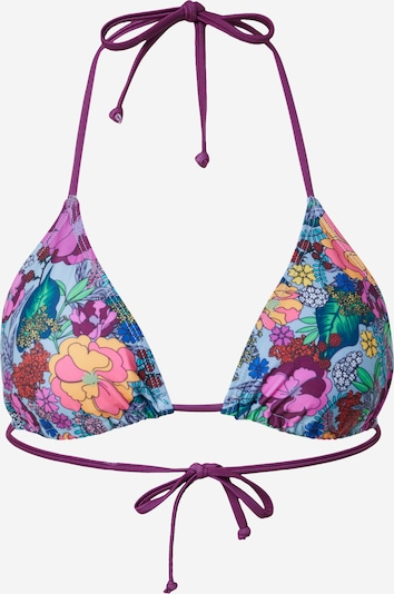 BeckSöndergaard Bikinitop 'Bluma' in rauchblau / gelb / petrol / lila / pink, Produktansicht
