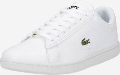 LACOSTE Baskets basses 'CARNABY' en vert clair / rouge feu / noir / blanc, Vue avec produit
